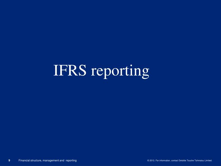 IFRS reporting