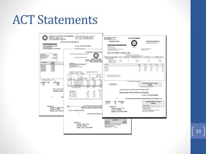 ACT Statements