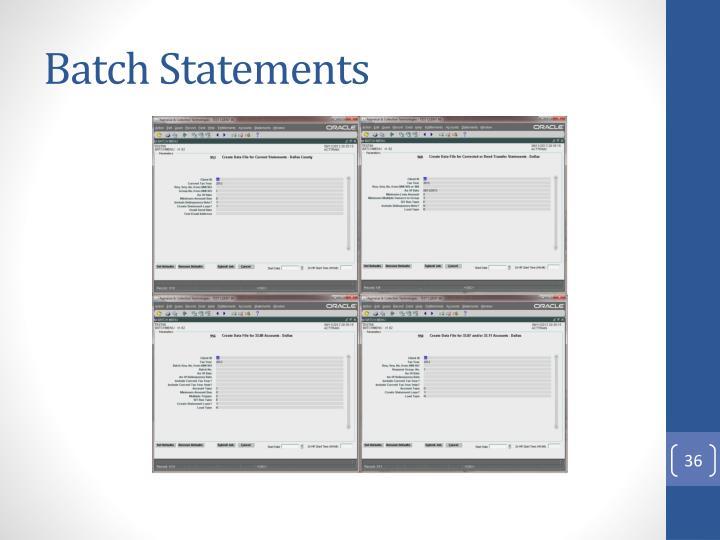 Batch Statements