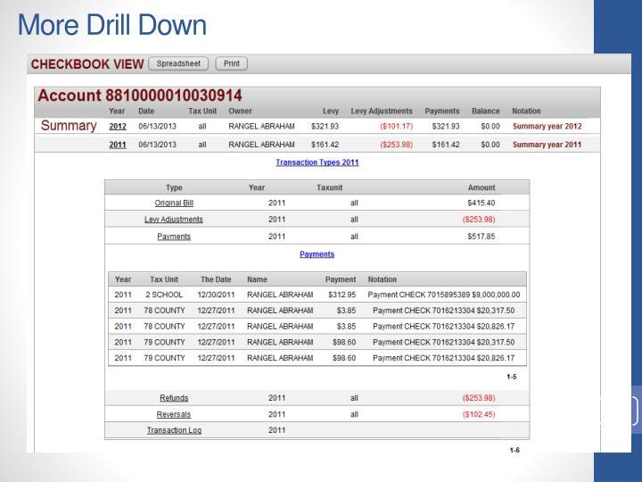 More Drill Down