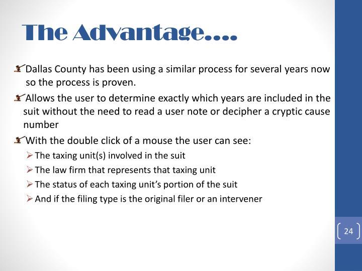 The Advantage….