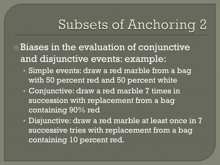 Subsets of Anchoring 2