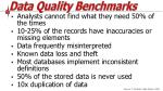 data quality benchmarks