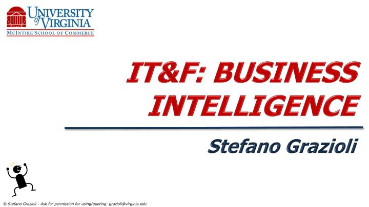 it f business intelligence