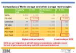 comparison of flash storage and other storage technologies