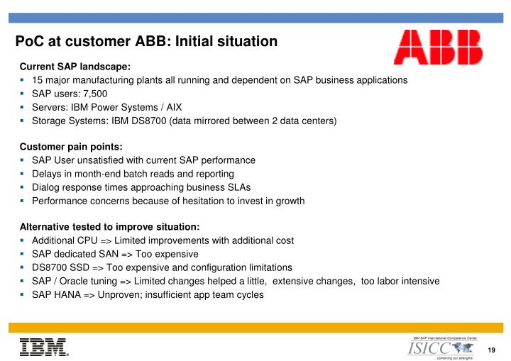 PoC at customer ABB: Initial situation