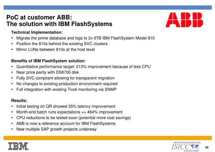 PoC at customer ABB: