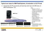 typical use cases for ibm flashsystems acceleration of oltp load