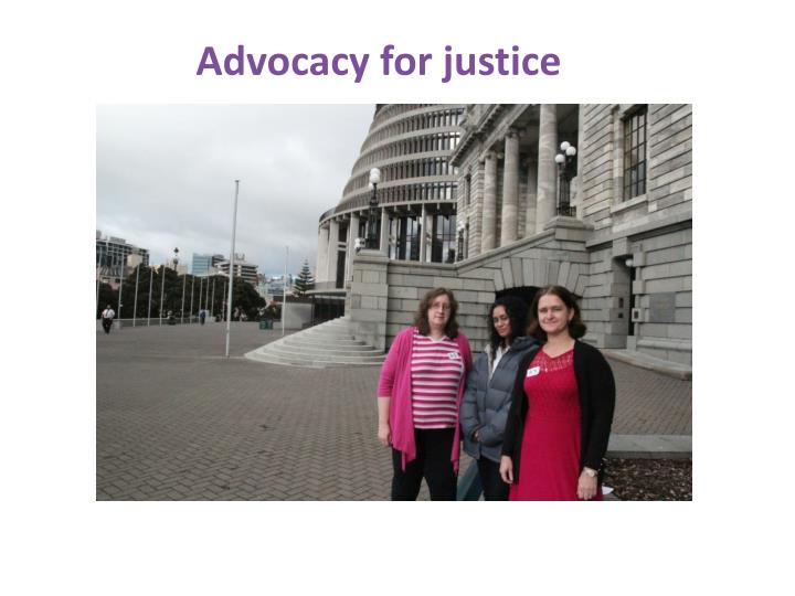 Advocacy for justice