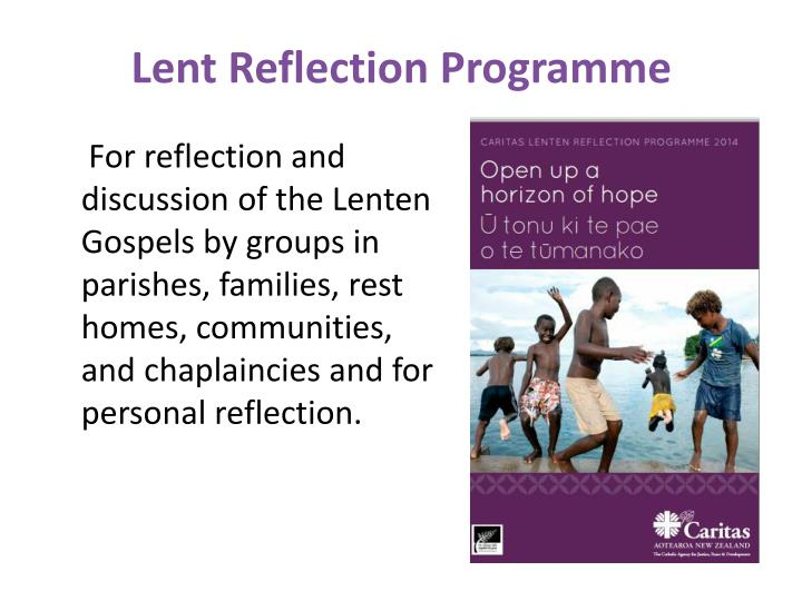 Lent Reflection Programme