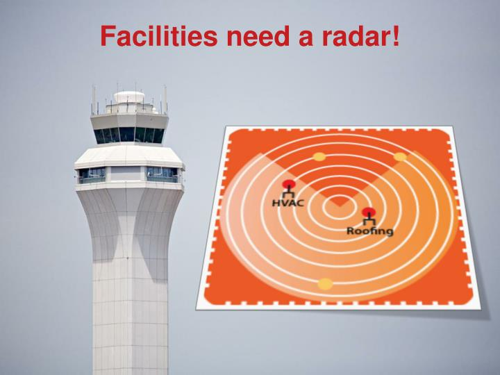 Facilities need a radar!