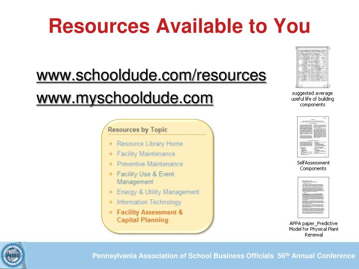 Resources Available to You