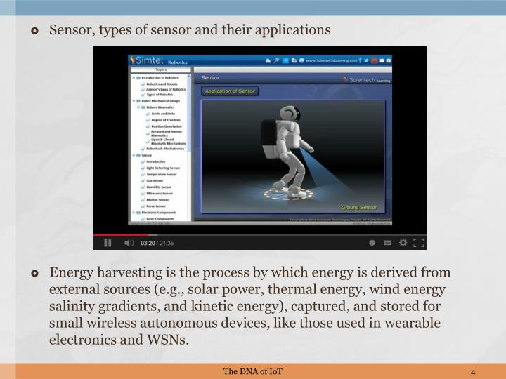 Sensor, types of sensor and their applications