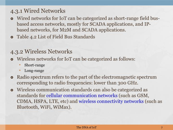 4.3.1 Wired Networks