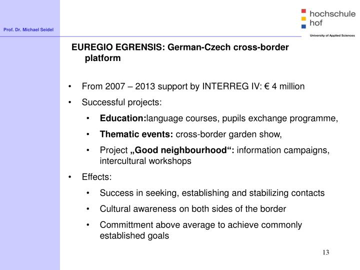 EUREGIO EGRENSIS: German-Czech