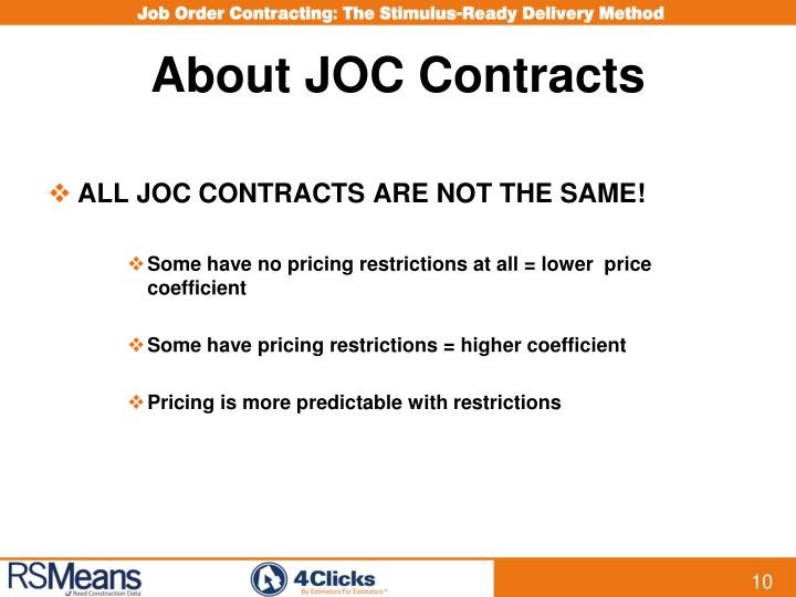 About JOC Contracts