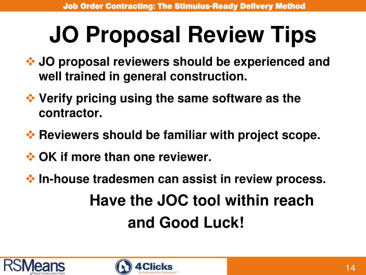 JO Proposal Review Tips