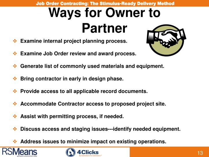 Ways for Owner to