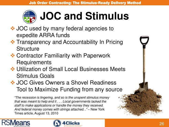 JOC and Stimulus