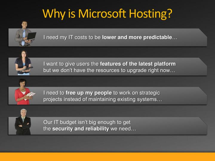 Why is Microsoft Hosting?