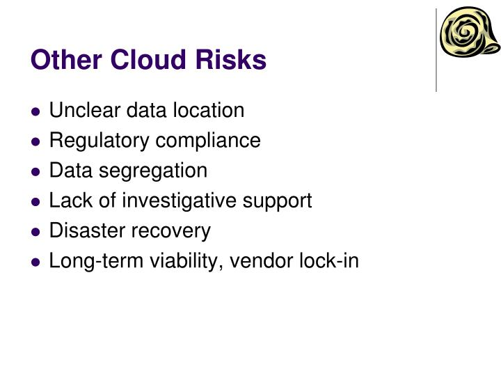 Other Cloud Risks