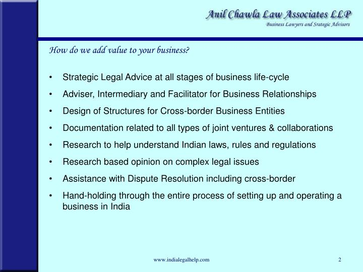 Strategic Legal Advice at all stages of business life-cycle