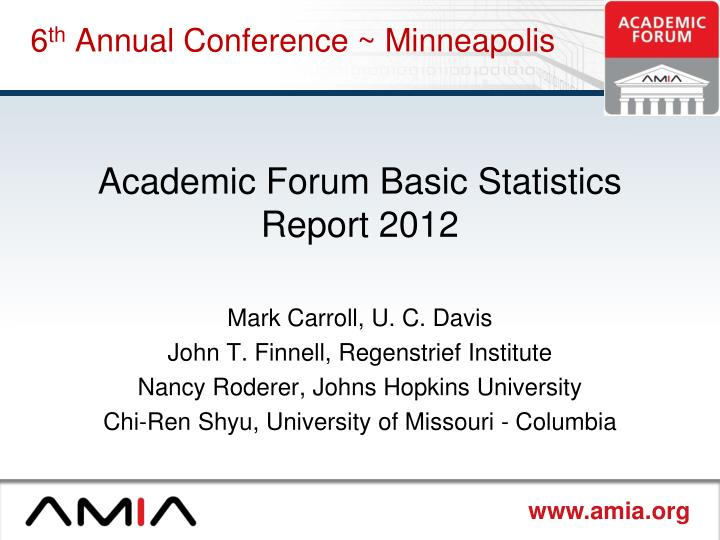6 th annual conference minneapolis