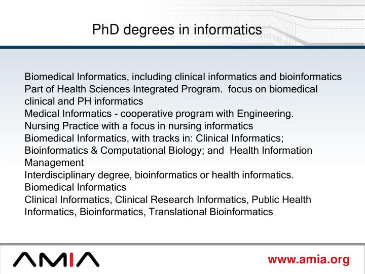 PhD degrees in informatics