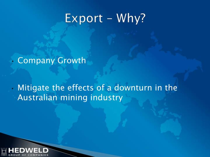 Export – Why?