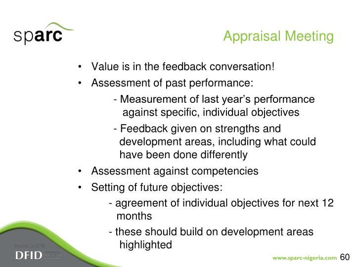 Appraisal Meeting