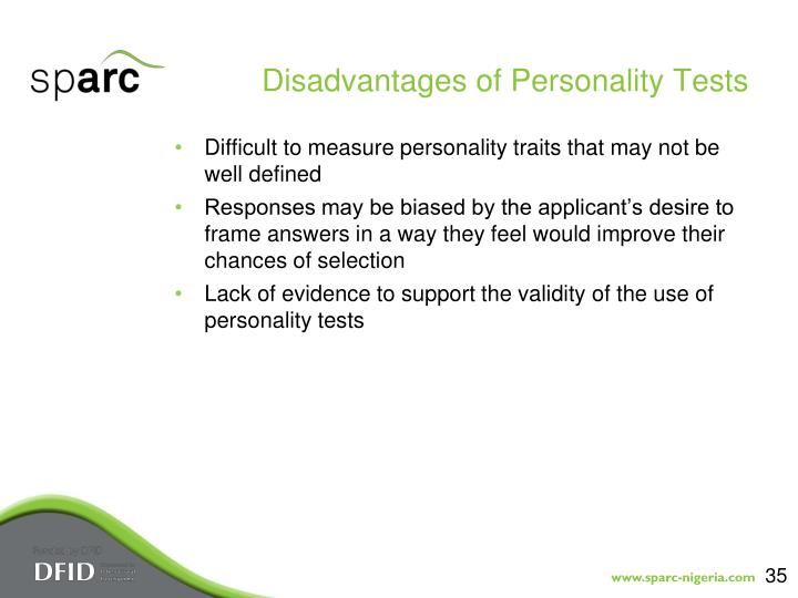 Disadvantages of Personality Tests