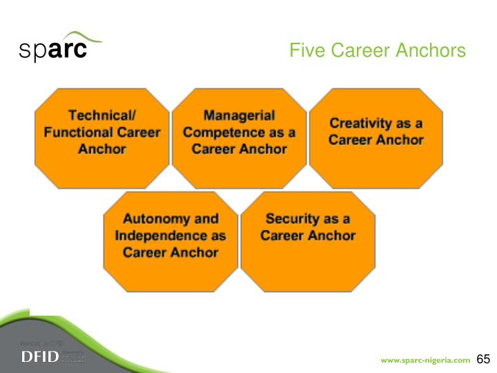 Five Career Anchors