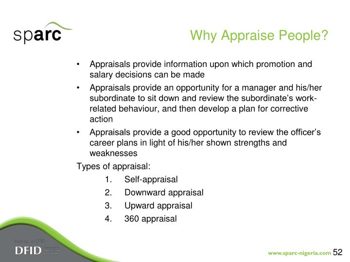 Why Appraise People?