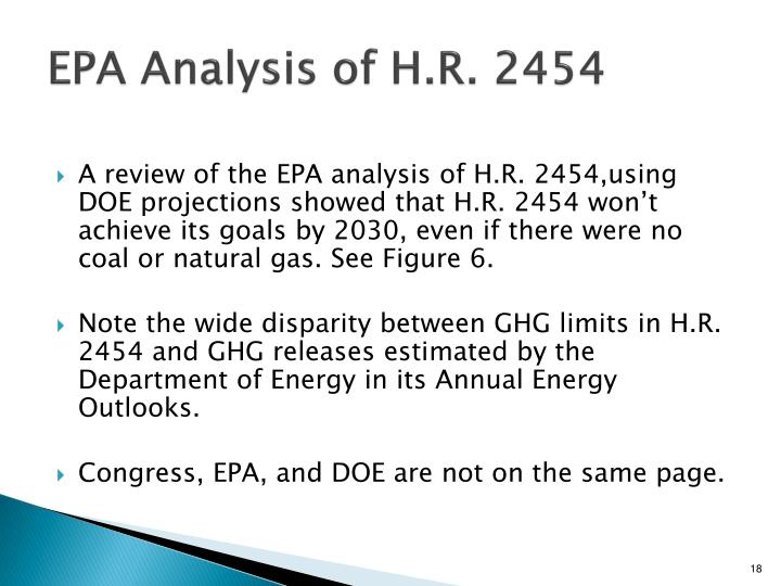 EPA Analysis of H.R. 2454