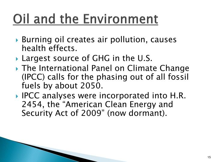 Oil and the Environment