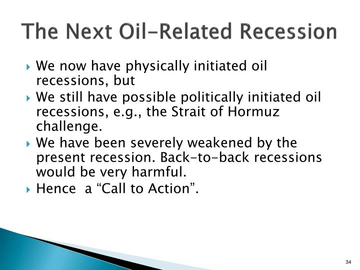 The Next Oil-Related Recession