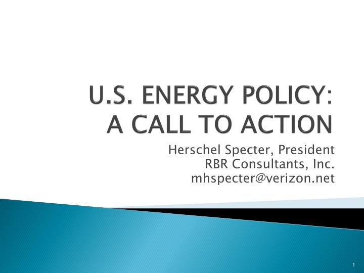 U s energy policy a call to action