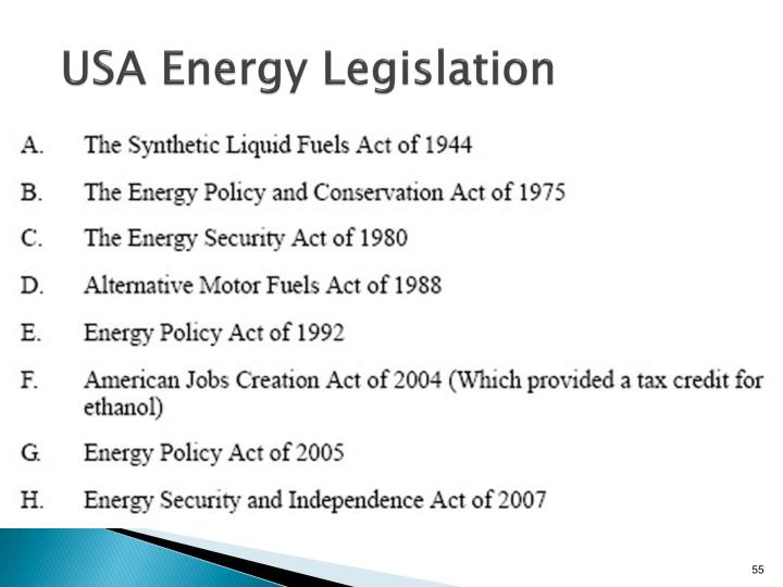 USA Energy Legislation
