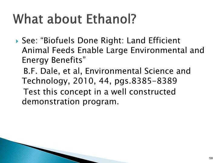 What about Ethanol?