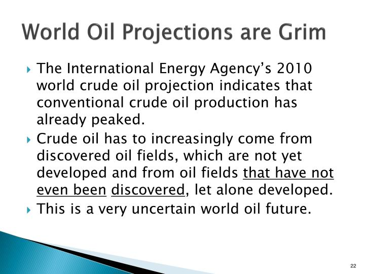 World Oil Projections are Grim