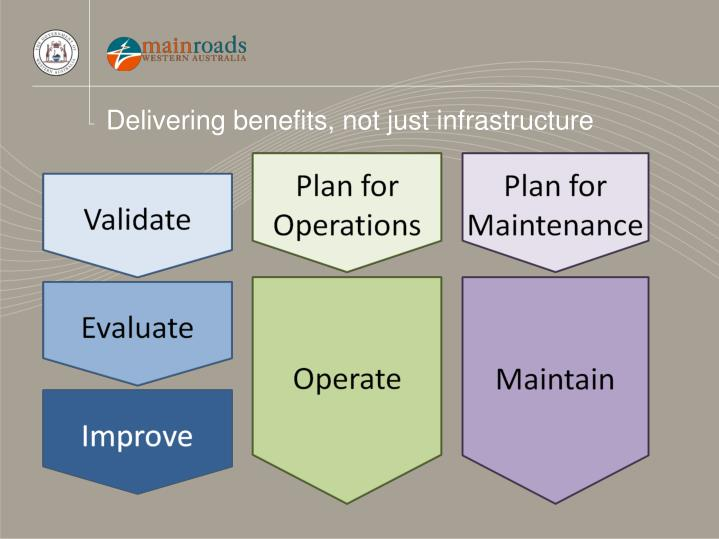 Delivering benefits, not just infrastructure