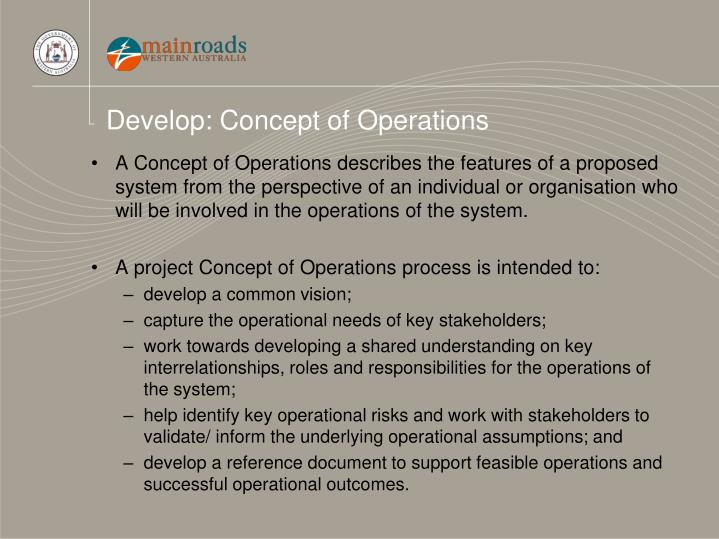 Develop: Concept of Operations