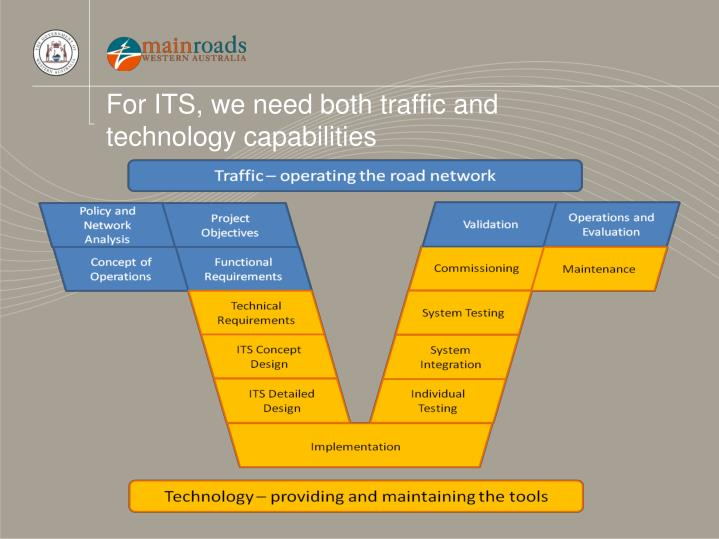 For ITS, we need both traffic and technology capabilities