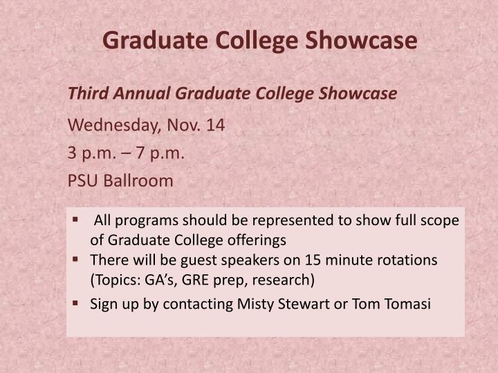 Graduate College Showcase