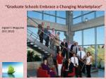 graduate schools embrace a changing marketplace