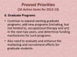 provost priorities 10 action items for 2012 13
