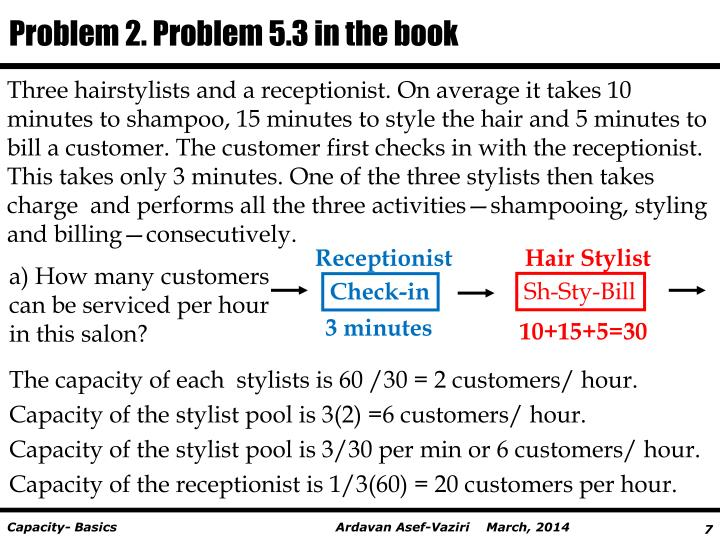 Problem 2. Problem 5.3 in the book