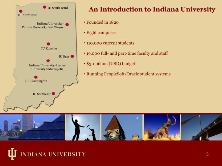 An Introduction to Indiana University