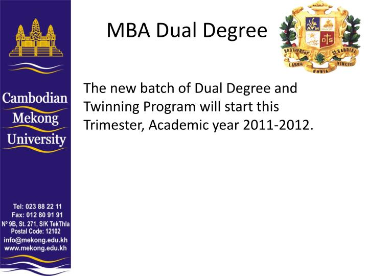MBA Dual Degree