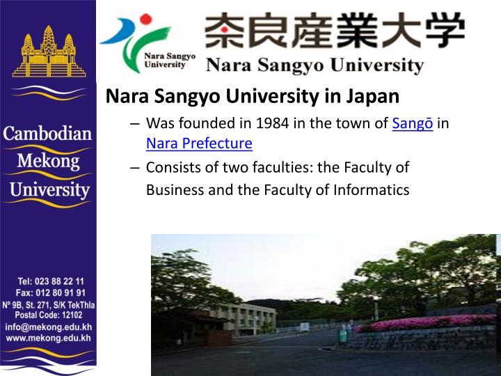 Nara Sangyo University in Japan